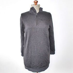 Bench Grey Long 1/4 Zip Collar Sweater Size Small